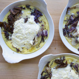Radicchio and Ricotta Custards