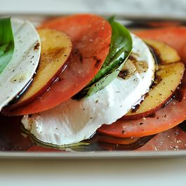Tomato, Nectarine, and Mozzarella Salad
