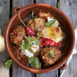 A Girl and Her Pig's Lamb Meatballs with Yogurt, Eggs, and Mint