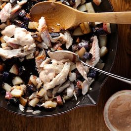 Skillet Potatoes with Smoked Fish