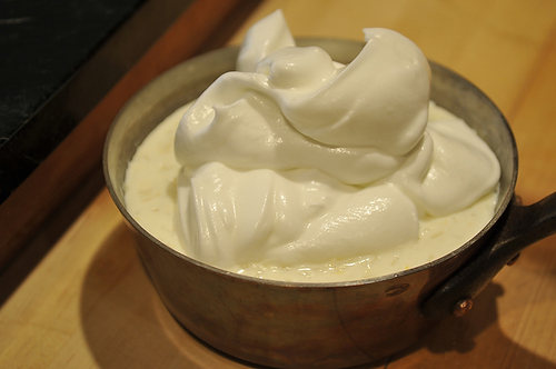 Almond Rice Pudding with Toasted Meringue