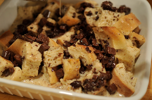 Bourbon Chocolate Bread Pudding