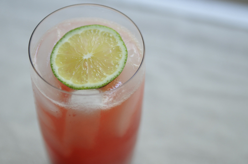 Retro Raspberry Lime Rickeys