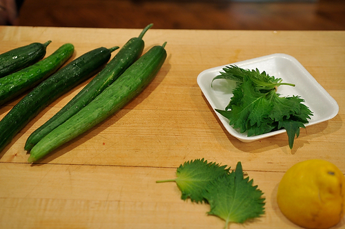 Quick Cucumber and Shiso Pickles Recipe on Food52