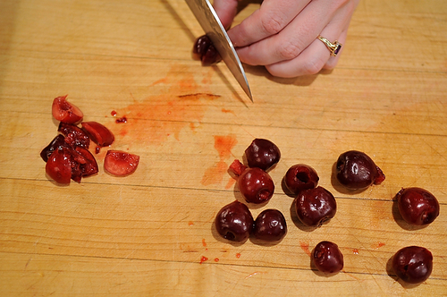Cherry Jam with Lemon-Pepper Shortbread