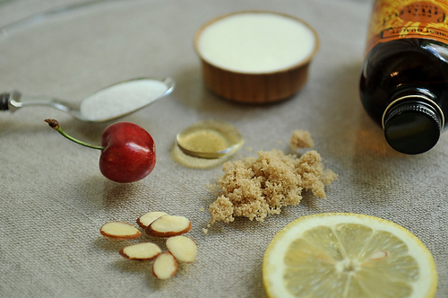 Cherry Brown Sugar Fool with Honey Almonds