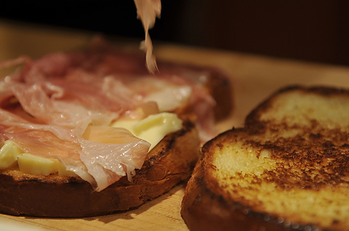 Brie and Prosciutto Melt