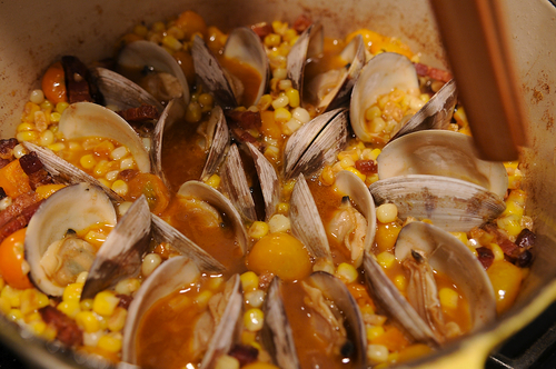 Corn, Bacon, and Clam Stew