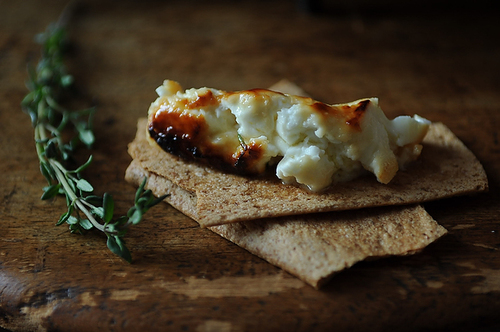 Roasted Feta with Thyme-Infused Honey from Food52