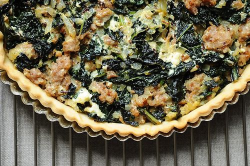 Sausage and Kale Dinner Tart recipe on Food52.com