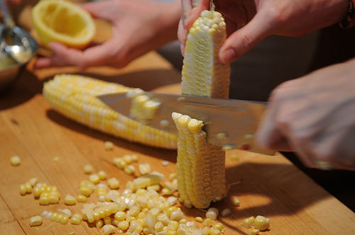Summer Corn and Smoked Trout Dinner Salad