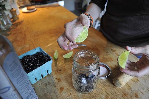 Blackberry Caipirinha