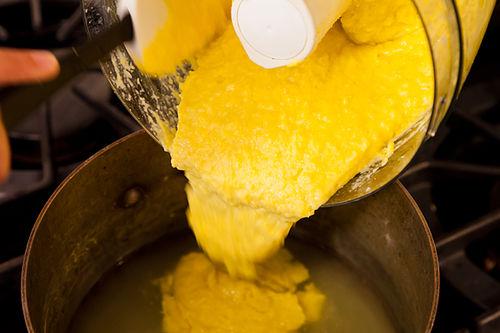 Yotam Ottolenghi's Sweet Corn Polenta with Eggplant Sauce Recipe on ...