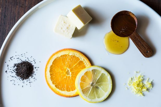 Tea with Honey and Lemon Compound Butter